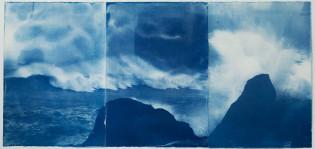 Teoskuva Anna Niskanen, Hydrotrope, 2019 Syanotypia paperille, yksityiskohta