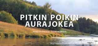 Pitkin poikin Aurajokea -julkaisun kansikuvassa jokilaakson peltomaisemaa.