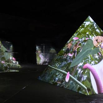 Kuva Tabita Rezairen videoinstallaatiosta